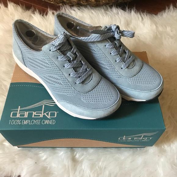 Dansko Hayes Light Blue Sued Sneakers